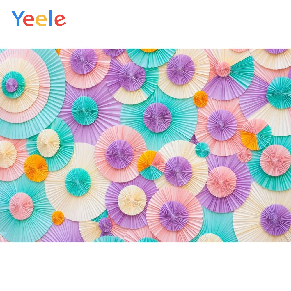 Yeele Vinyl Color Paper Flowers Children Birthday Party Photography Background Wedding Photographic Backdrop For Photo Studio in Background from Consumer Electronics