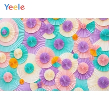 Yeele Vinyl Color Paper Flowers Children Birthday Party Photography Background Wedding Photographic Backdrop For Photo Studio