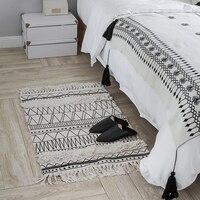Nordic Cotton Carpet For Living Room Bedroom Rugs Home Carpet Tassel Floor Door Mat Fashion Simple Decor Hot Area Rug Mat