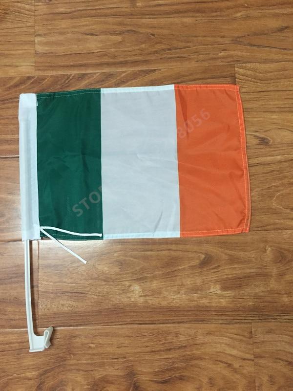30X45C Irlanda Irlanda bandeira janela do carro bandeira do carro pólo de  bandeira do carro decoração Frete Grátis 0ad8315512