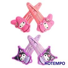 Japan Cute Cartoon Gothic Lolita Kuromi Melody Girls Baby Kawaii Hair Accessories Hairpins Hairclip Elastic HairBands for Gift