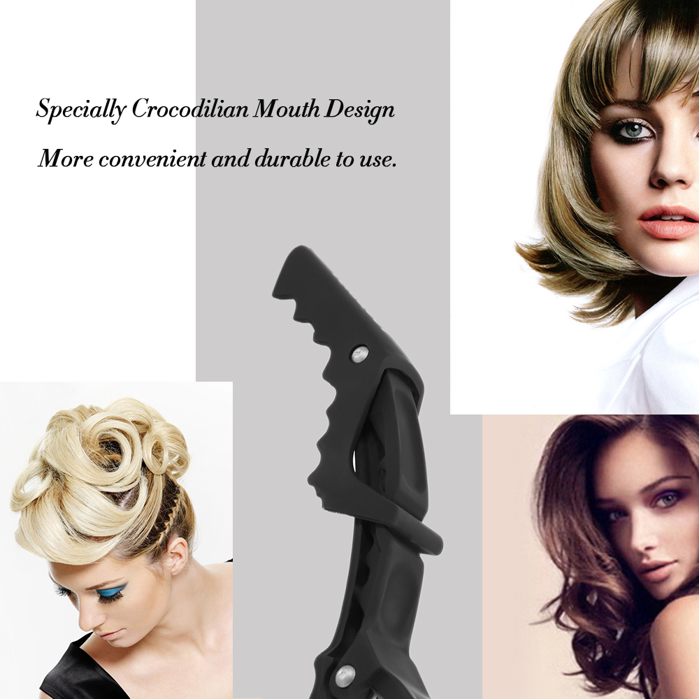 Купить с кэшбэком 6Pcs/set barber accessories Croc Hair Grip Clips Professional Hairdressing Sectioning Clips Cutting Clamps Salon Hair Styling
