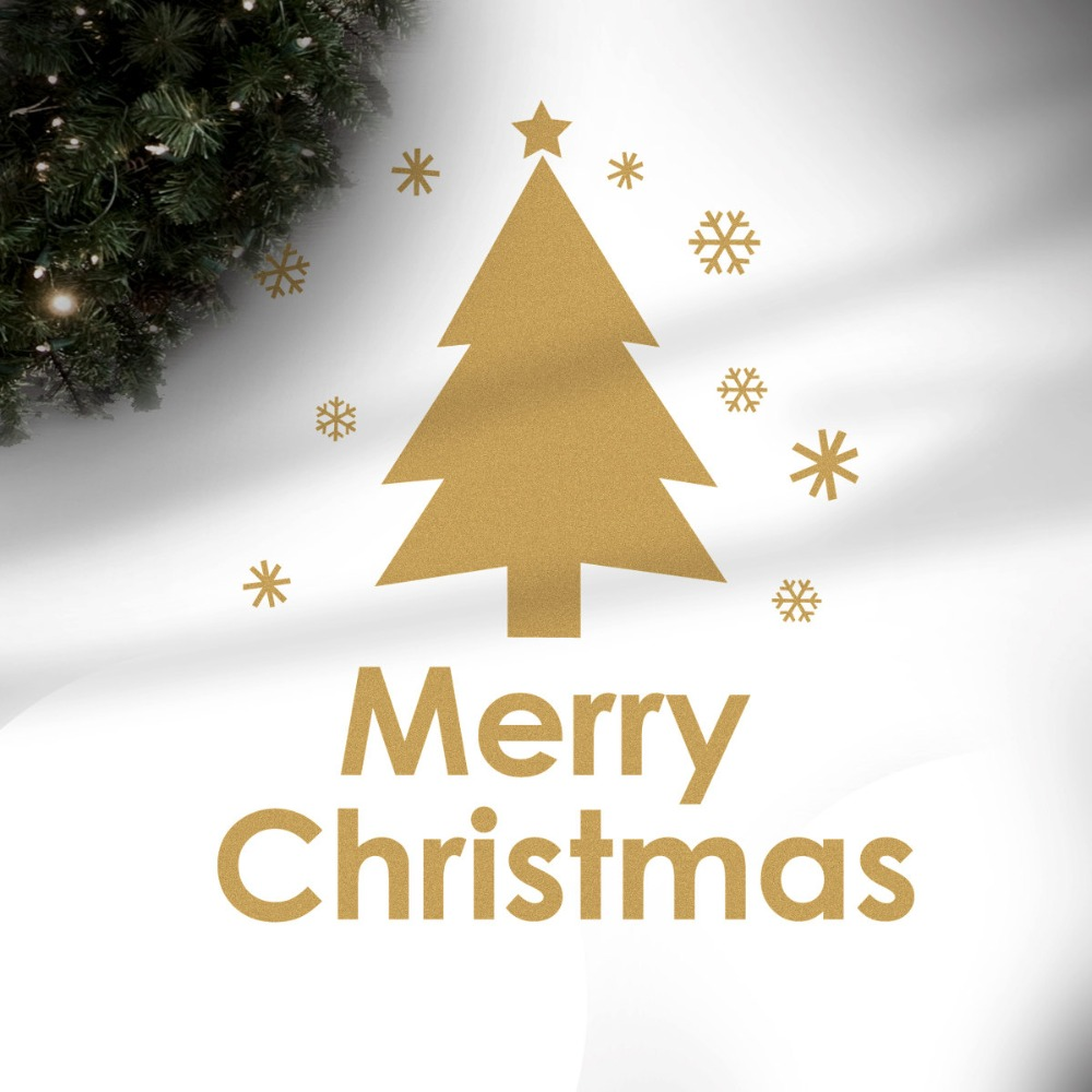 Online Shop Christmas Tree Pattern Wall Decal Quotes Merry Christmas ...