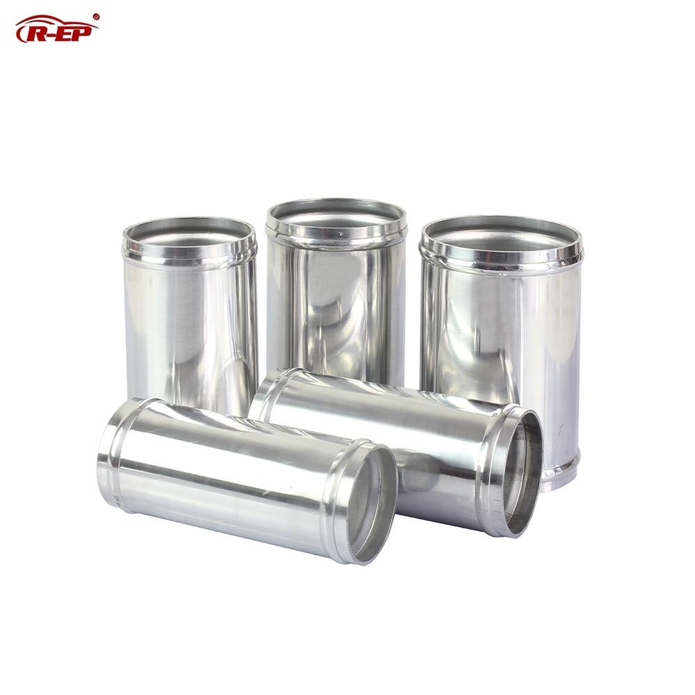 Tubo de aluminio de entrada de aire R-EP, 51/57/63/70/76mm, para conectar manguera de entrada de aire frío, DIY, Para sintonización de flujo de aire del motor