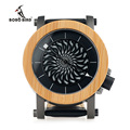 Bobo bird m06 marca de topo relógio mecânico de pulso de madeira de bambu de luxo relógios para Homens Esfriar Rotating Dial Rosto Presente de Luxo Caixa de Madeira
