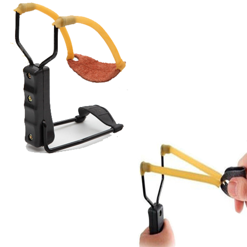 Outdoor Portable Simple Slingshots Power Folding Wrist Brace Support Shot Slingshot Bow Catapult in Bow Arrow from Sports Entertainment