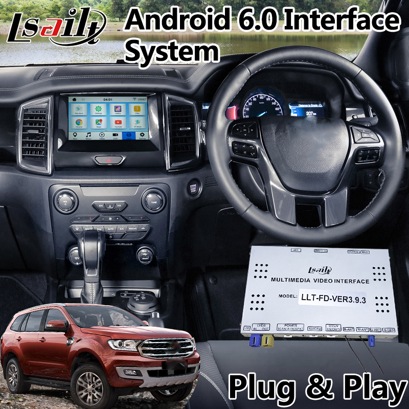 android 6 0 navigation interface for ford everest tourneo sync 3 system 2016 2018 spotify waze. Black Bedroom Furniture Sets. Home Design Ideas