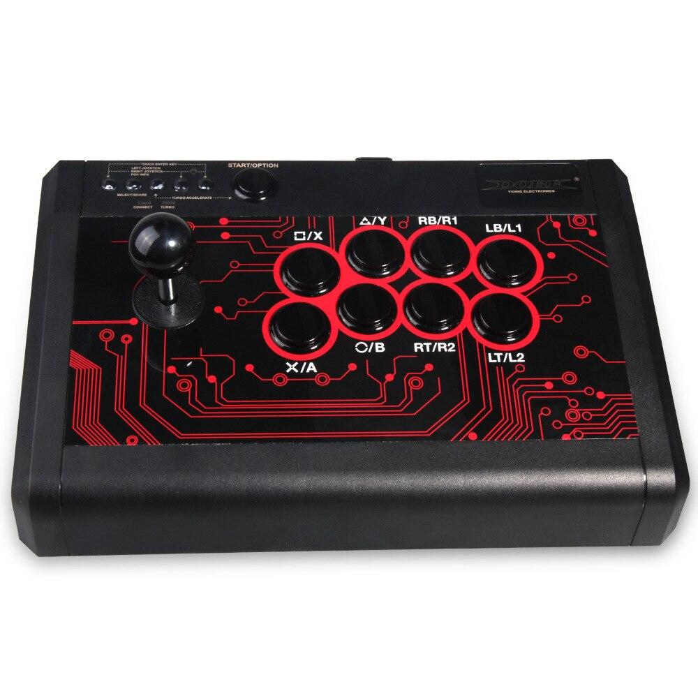 6 dans 1 Filaire Arcade Lutte Bâton Joystick pour PS4 PS3 XBOX UN 360 PC & INTERRUPTEUR