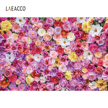 Laeacco Flowers Party Stage Wedding Scene Birthday Photography Backgrounds Customized Photographic Backdrops For Photo Studio