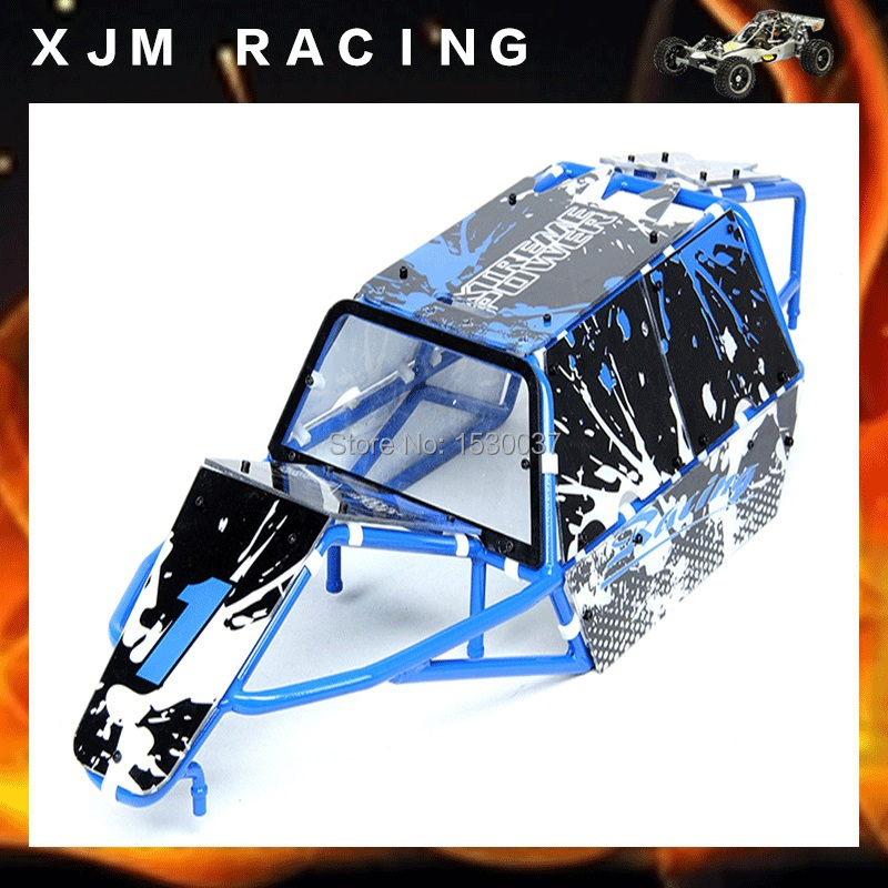 1/5 rc car GT Roll Cage and with body shell for baja 5b parts baja gt pig cage spotlights set ts h85232 for baja parts black orange and blue choose with free shipping
