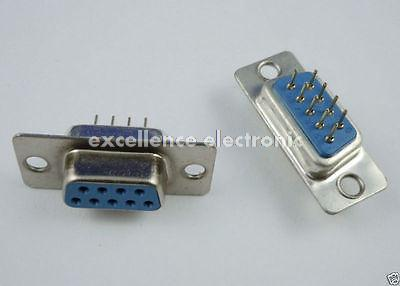 D-Sub 9pin Solderless Connectors DB9 RS232 Serial to Terminal Ada YF