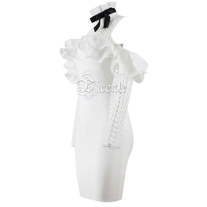 Robe L'épaule Gros Out De New Creux Sexy Hors Embelli Chic Bandage En Hot 2019 Élégant Ruches Bow Femmes Vicente Blanc 1xwqBPUanR
