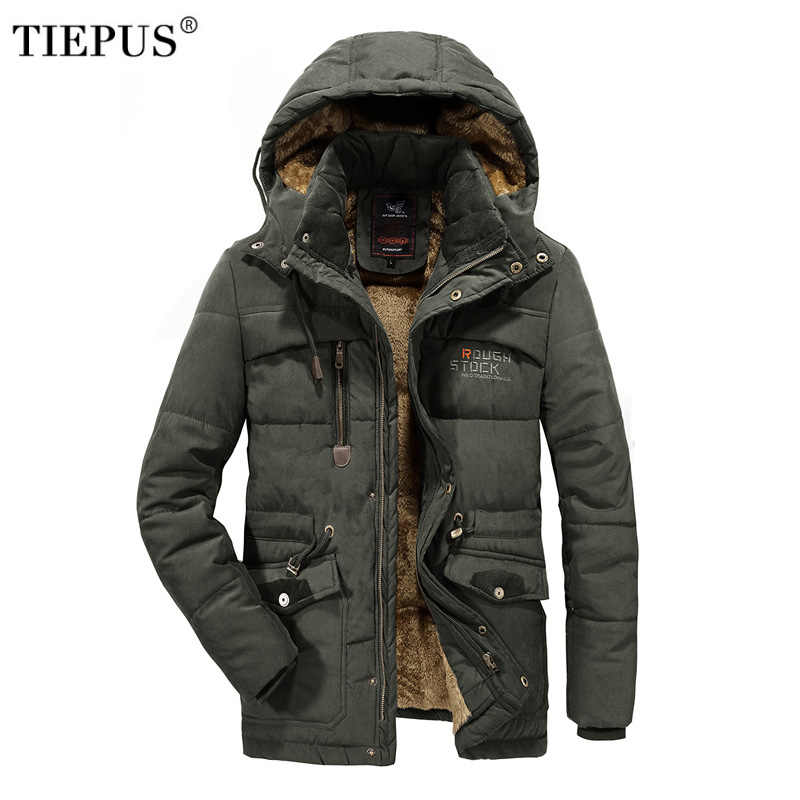 Mannen Winter Jas Plus size 6XL 7XL 8XL Dikke Warme Parka Fleece Fur Hooded Militaire Jas Jas Zakken Windjack mannen