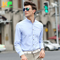 High Quality Men Shirt Long Sleeve Cotton Solid Dress Man's Business Clothing Mandarin Collar Social Brand Shirts MDSS1505