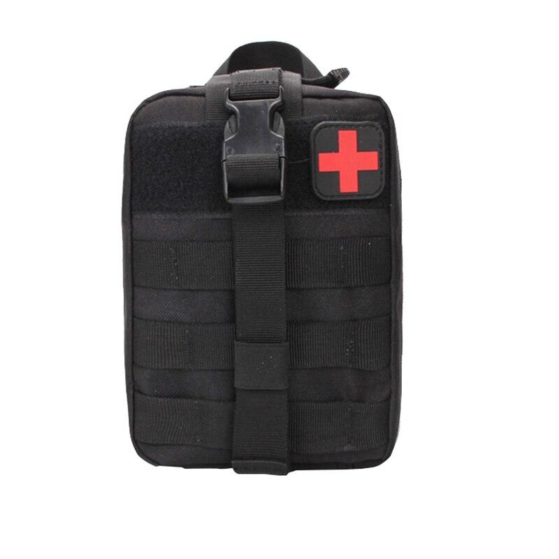 Caza Molle cubierta médica emergencia Supervivencia paquete utilitario bolsa táctica al aire libre Kit de primeros auxilios supersupervivencia Camping