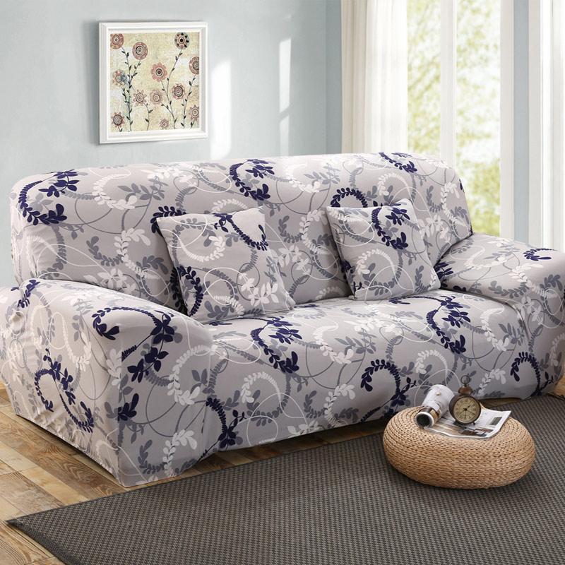 Диван-плъзгаща се плътна обвивка All inclusive Устойчив на хлъзгане Секционен еластичен пълен ъглов диван Покритие l форма диван 1/2/3/4 местен 1PC