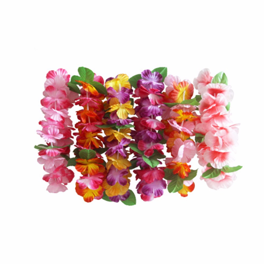 Aliexpress buy laphil 12pcs leis headband hawaiian garland aliexpress buy laphil 12pcs leis headband hawaiian garland flowers wedding decoration luau hawaiian party decorations fake artificial flowers from izmirmasajfo