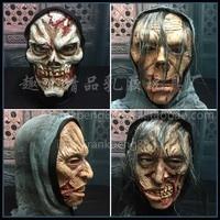 Halloween Horror Cloak Mask Haunted House Secret Room Stage Arrangement Party Movie Make Horror Realistic Mask