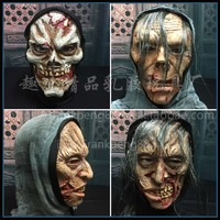 Halloween Horror Cloak Mask Haunted House Secret Room Stage Arrangement Party Movie Make Horror Realistic Mask