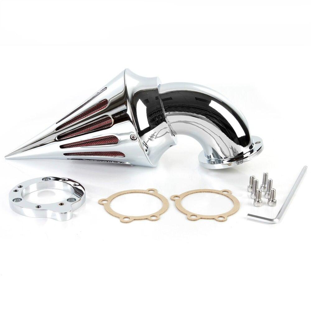 Motorcycle Spike Air Cleaner filter kits for Harley S&S custom CV EVO XL Sportster CHROME цена