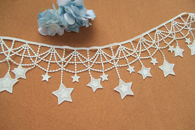 10cm Wide Stars Gold Tassels Lace Fringe Trim Ribbon Costume Home Textile Curtains Decor Trims Clothes Sewing Accessories