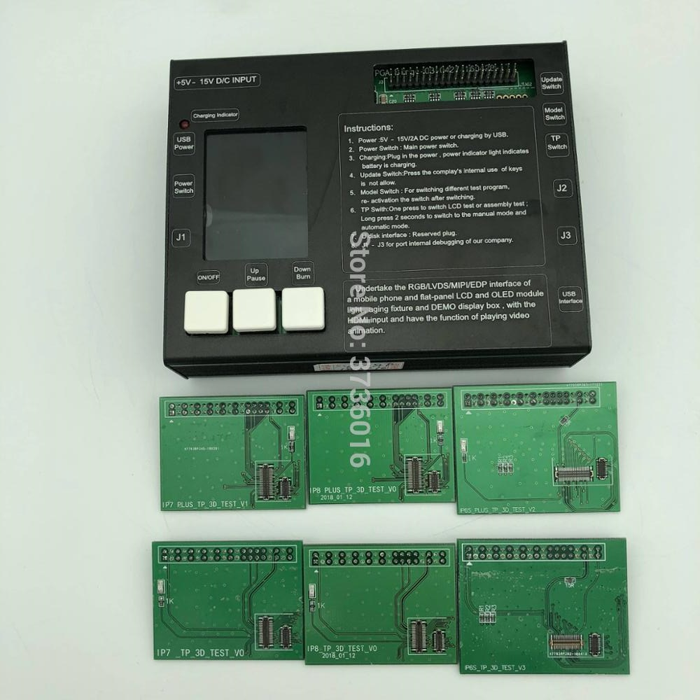 6 in 1 Tester DELL'AFFISSIONE A CRISTALLI LIQUIDI di Tocco Digitale Dello Schermo di Visualizzazione strumento di riparazione per il iphone 6 S 6 S Plus 7 7 più di 8 8 Più 3D Touch e LCD touch di Prova