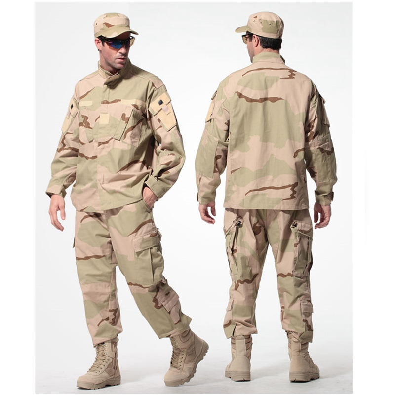 ФОТО Army Desert military tactical uniform 1 set jacket + pants men shirt pants uniform outdoor hunting ghillie suits