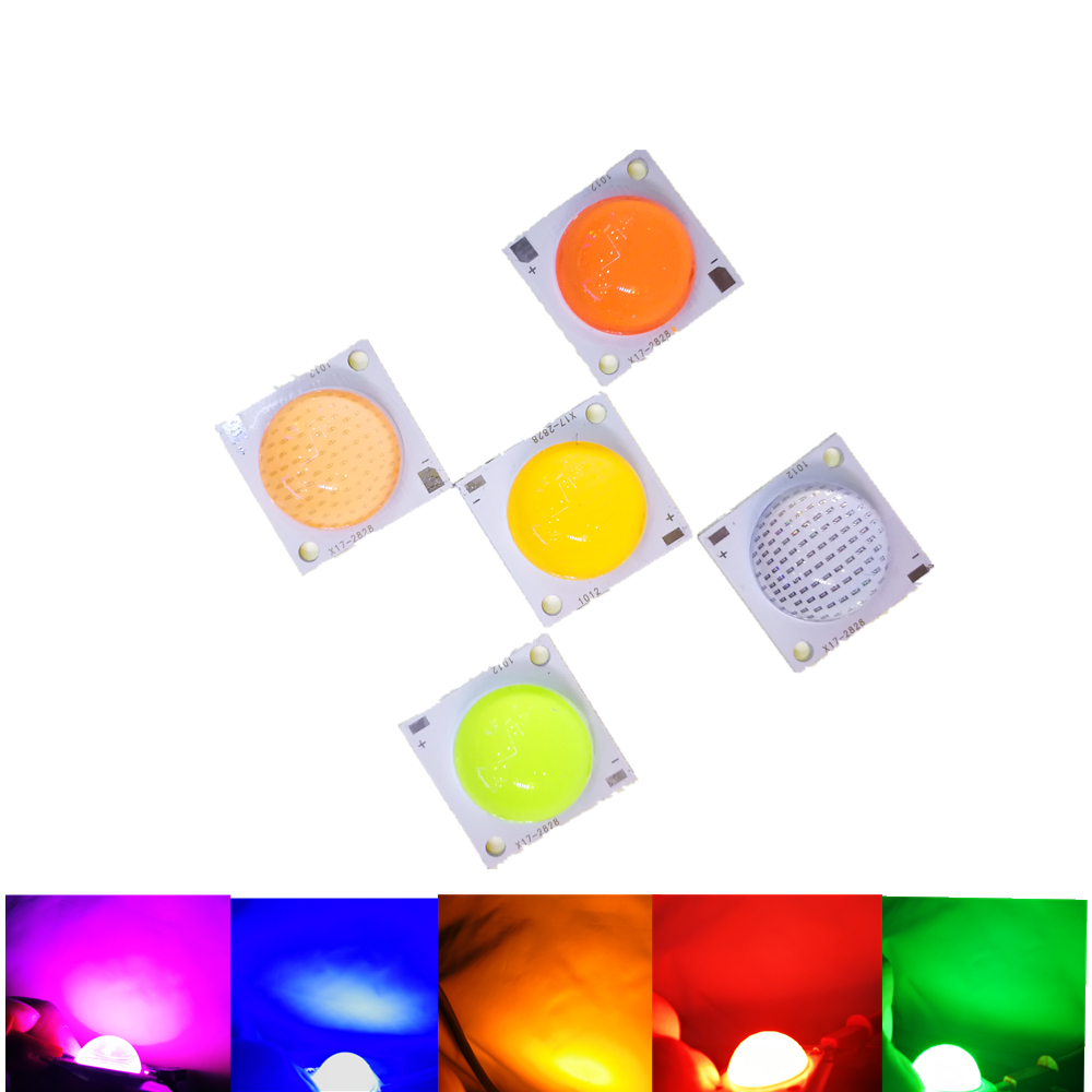 High Power Genesiss LED chip DC24V COB 50W white red green blue for LED Floodlight storage battery car,projector,car,motorcycle