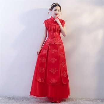 Shanghai Story traditional chinese wedding dress Qipao Women's Dress Chinese Style Dress Cheongsam Xiuhe Suit