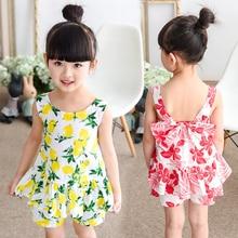 Children's clothing female child set summer 2016 little girl baby child suspender skirt trousers twinset