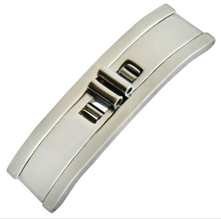Wholesale 100PCS lot 3mm 4mm 5mm 6mm Stainless steel Folding clasp Buckle watch buckle watch part