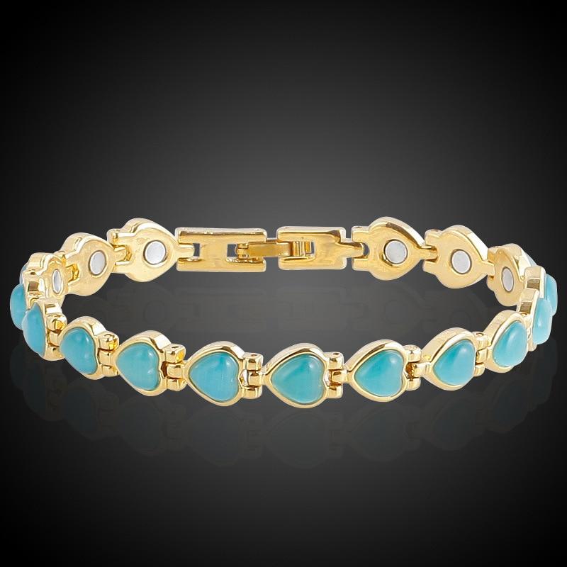 HOMOD Magnetische Armband Perlen Hämatit Stein Therapie - Modeschmuck - Foto 3