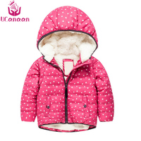 Ucanaan Winter Warm Child Coat Soft Jacket Boys Parkas For Girl Baby Outside Hooded Jackets Kids