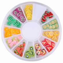 Nail Art 3D Fruit Fimo Slices Polymer Clay DIY Slice Decoration Nail Sticker Mixed Stype for Choice цена