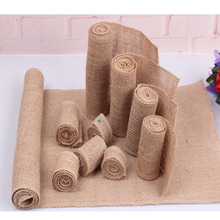 5Meters Natural Jute Burlap Hessian Rolls Rustic Wedding Decoration Christmas Halloween Birthday Gift Wrapping Party Supplies