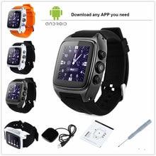 3G SIM Android Reloj Inteligente ORDRO SW16 Android 4.4 Smartwatch teléfono MTK6572 Dual Core 1.0 GHz IP67 A Prueba de agua WiFi GPS 3MP cámara
