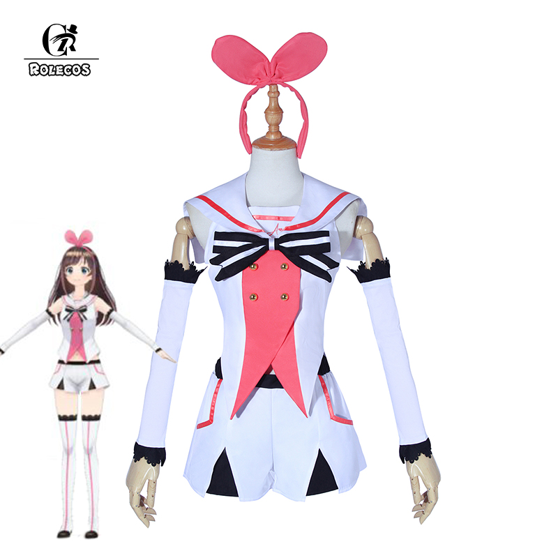 ROLECOS New Arrival Kizuna AI Cosplay Costume Popular Virtual Youtuber A.I.Channel Cosplay Costume Full Set