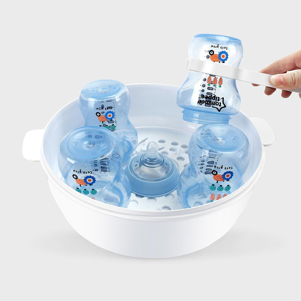 Baby Microwave Bottle Disinfection Box High Temperature Nipple Sterilizer Bottle Holder Storage Box Baby Bottle Warmer