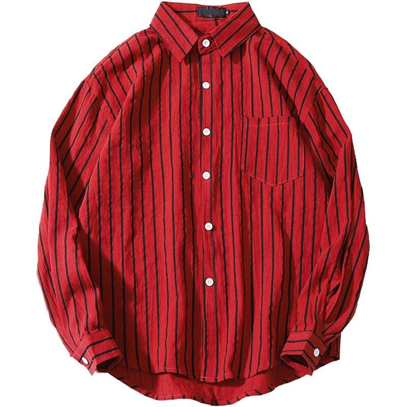 Rouge grande taille 5xl 7xl hommes hauts buste 165 cm chemise 8xl 9xl 10xl hommes rayures verticales chemises à manches longues blanc chemises militaires