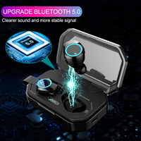 TWS Wireless 5.0 Earphones IPX7 Waterproof Touch Control Headsets True Twins Bluetooth Cordless Earbuds with 3000mah Power Case
