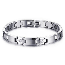 Fashion Healthy Energy Bracelet Hearted design Titanium  Health Care Magnetic Gold Hand Chain For Women