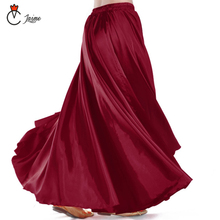 16 Colors available Satin Belly Dance Professional Women Dancing Clothes Full Circle Skirts Flamenco Plus Size