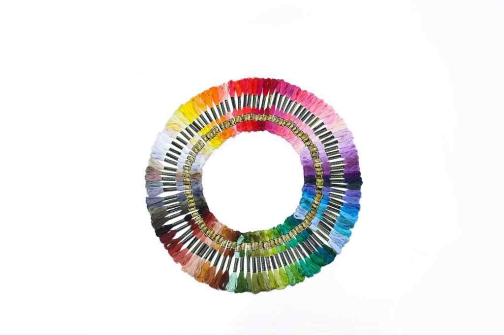 عبر غرزة المواضيع اثنين التسمية cxc نمط 10 قطعة عبر غرزة القطن التطريز الخيط الخياطة Skeins الحرفية الألوان 10-7