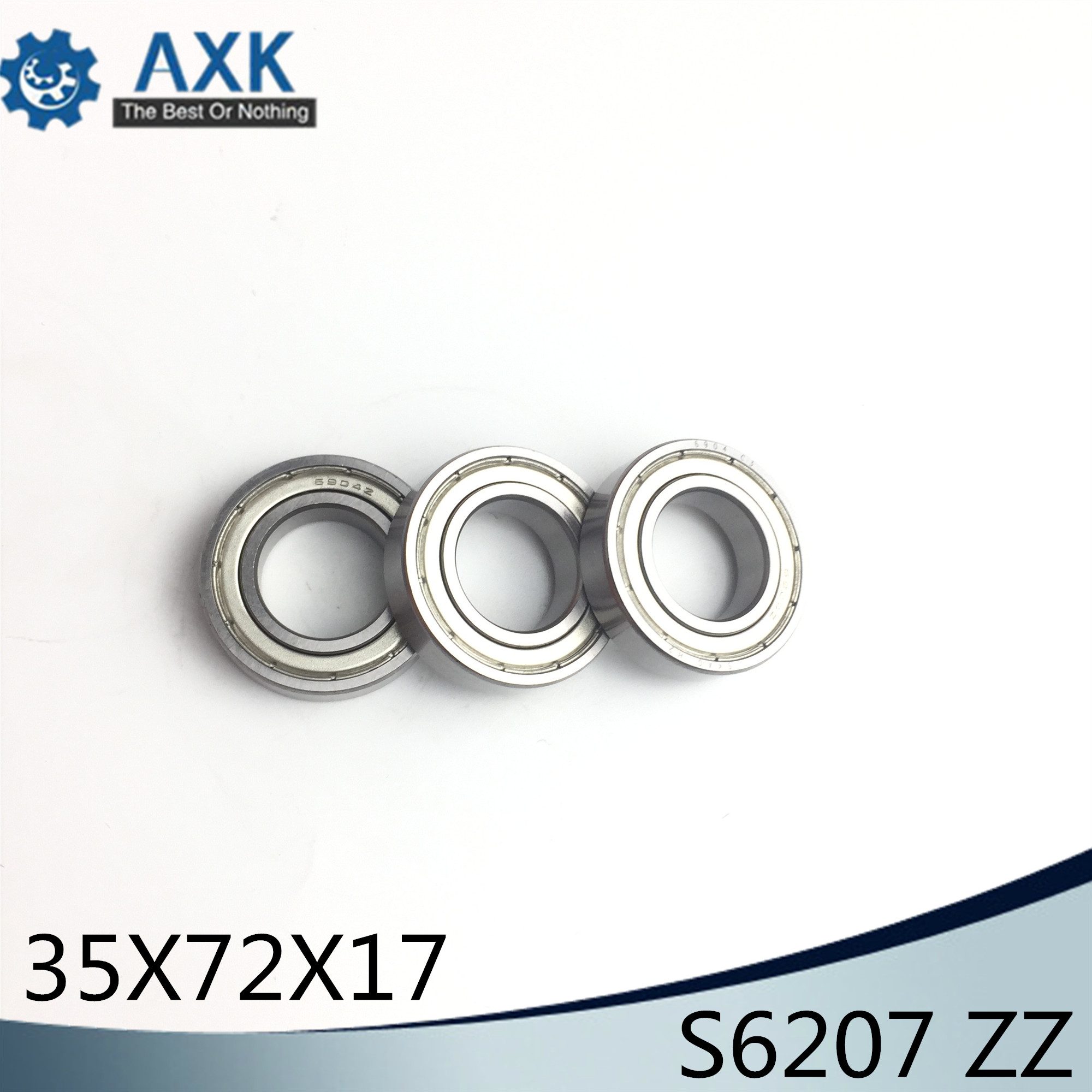 S6207ZZ Bearing 35*72*17 mm ( 2PCS ) ABEC-1 S6207 Z ZZ S 6207 440C Stainless Steel S6207Z Ball BearingsS6207ZZ Bearing 35*72*17 mm ( 2PCS ) ABEC-1 S6207 Z ZZ S 6207 440C Stainless Steel S6207Z Ball Bearings