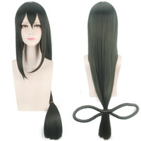 Asui Tsuyu Cosplay Wig Boku No Hero Academia Cosplay Wig Anime Hero Academia Hair Long Straight Synthetic Hair Women