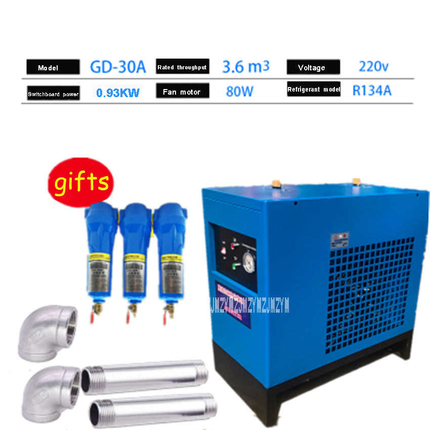 Air Dryer For Air Compressor >> New Gd 30a Refrigerating Dryer Machine Air Compressor Dryer Compressed Air Dryer Freeze Dryer 3 6m3 3600l R134a 220v 0 93kw 2a