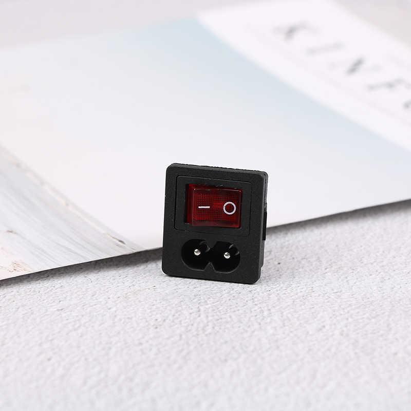 1 pièces interrupteur à bascule rouge interrupteur à bascule fusible entrée prise de courant fusible interrupteur connecteur connecteur