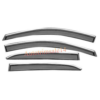 4PCS Outer Chrome Mouldings Side Window Deflector For Chevrolet Equinox 2018