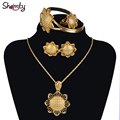 Ethiopian Jewelry sets Gold Plated/Silver Plated Bride African Wedding Sets Eritrea Habesha style A30004