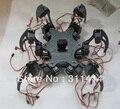1 conjunto de alumínio Hexapod aranha seis 3DOF Kit quadro pernas robô totalmente compatível com Arduino